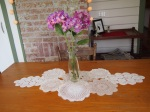 Doily table runner