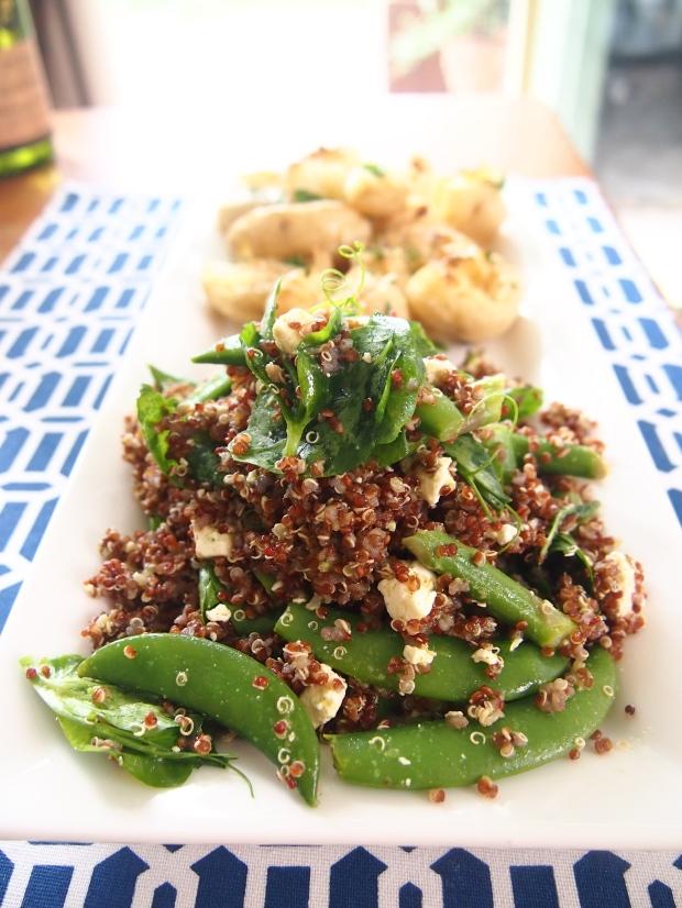 Quinoa salad with amazing mint dressing