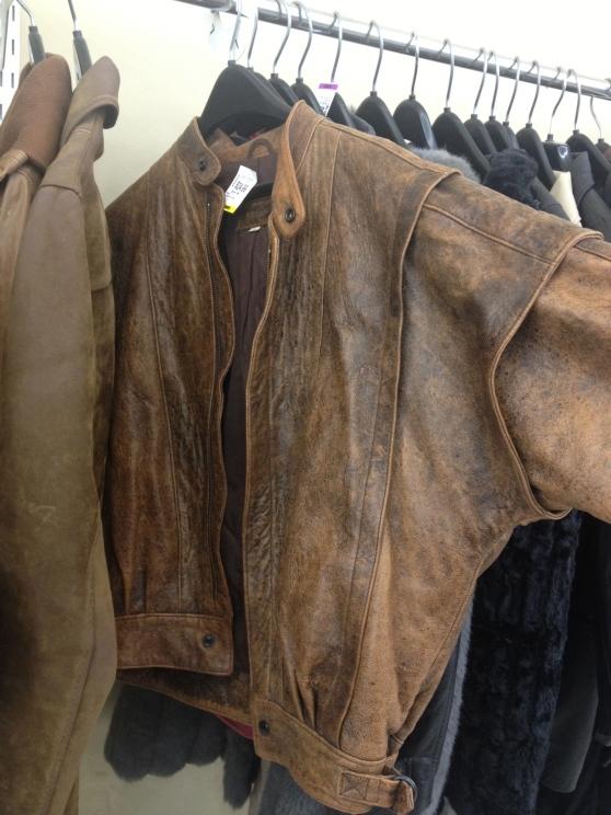 Dookie brown leather jacket